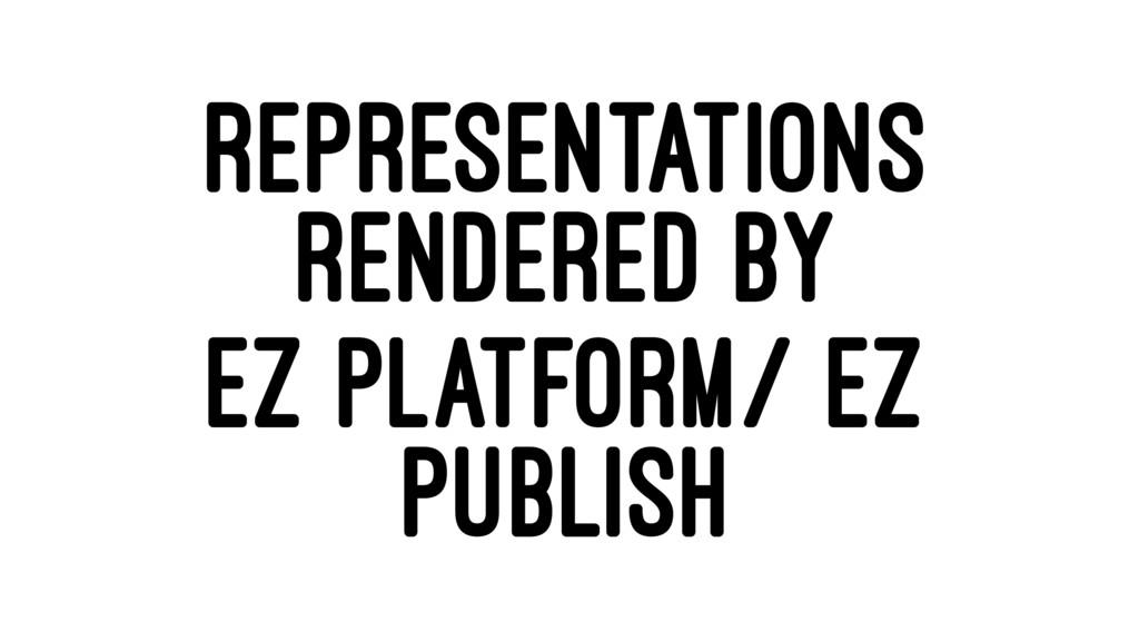 REPRESENTATIONS RENDERED BY EZ PLATFORM/ EZ PUB...