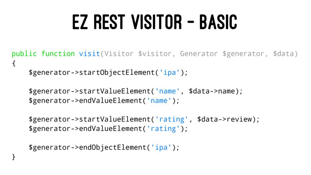 EZ REST VISITOR - BASIC public function visit(V...