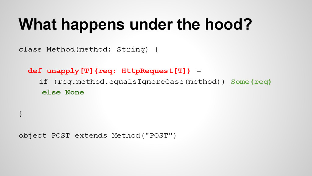What happens under the hood? class Method(metho...