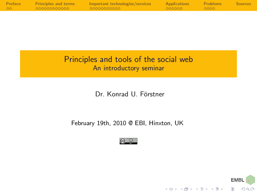 Preface Principles and terms Important technolo...