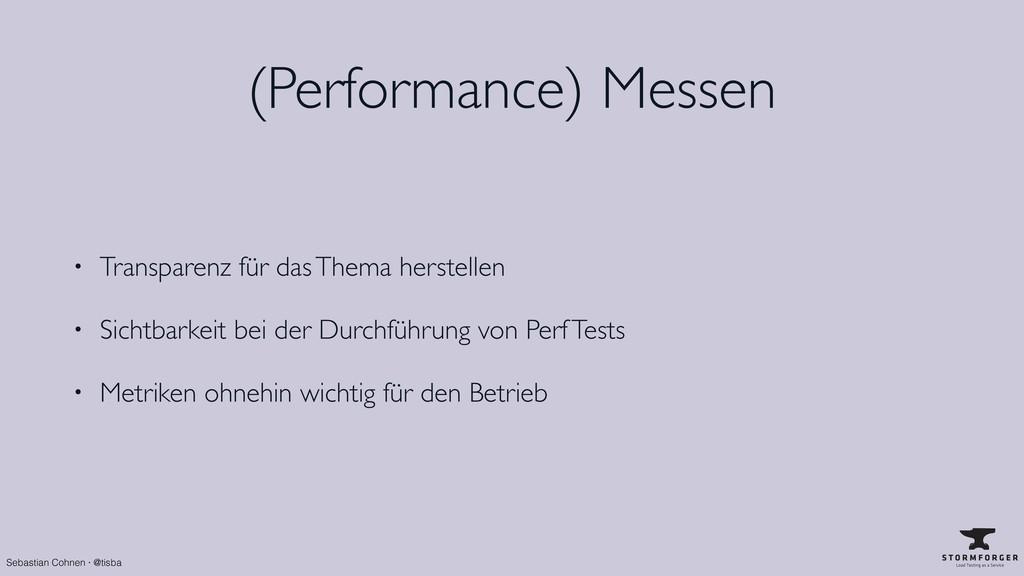 Sebastian Cohnen · @tisba (Performance) Messen ...