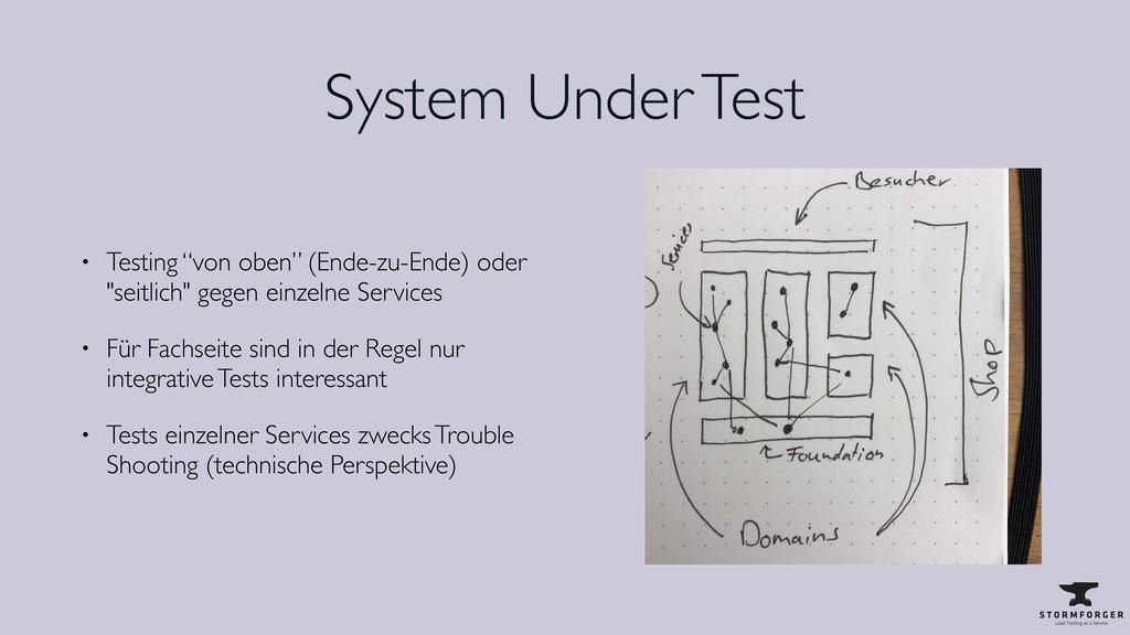"""System Under Test • Testing """"von oben"""" (Ende-zu..."""