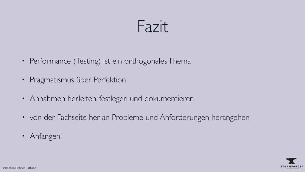 Sebastian Cohnen · @tisba Fazit • Performance (...