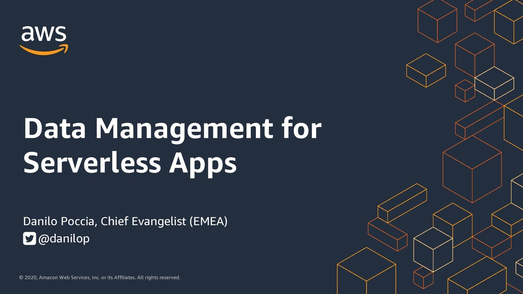 Data Management for Serverless Apps