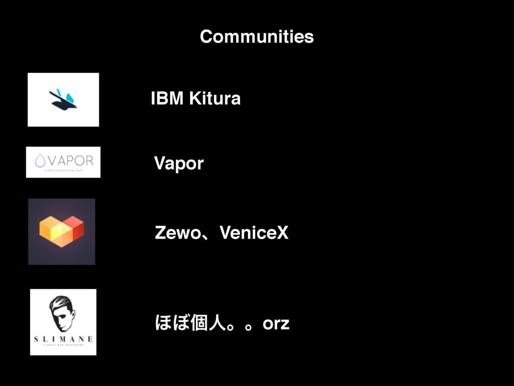 ZewoɺVeniceX ΄΅ݸਓɻɻorz Vapor IBM Kitura Communi...