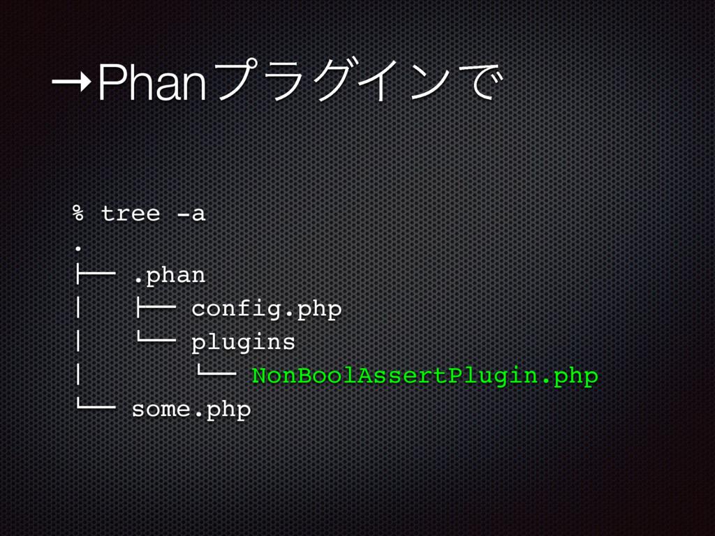 """→PhanϓϥάΠϯͰ % tree -a . !"""""""" .phan # !"""""""" conf..."""