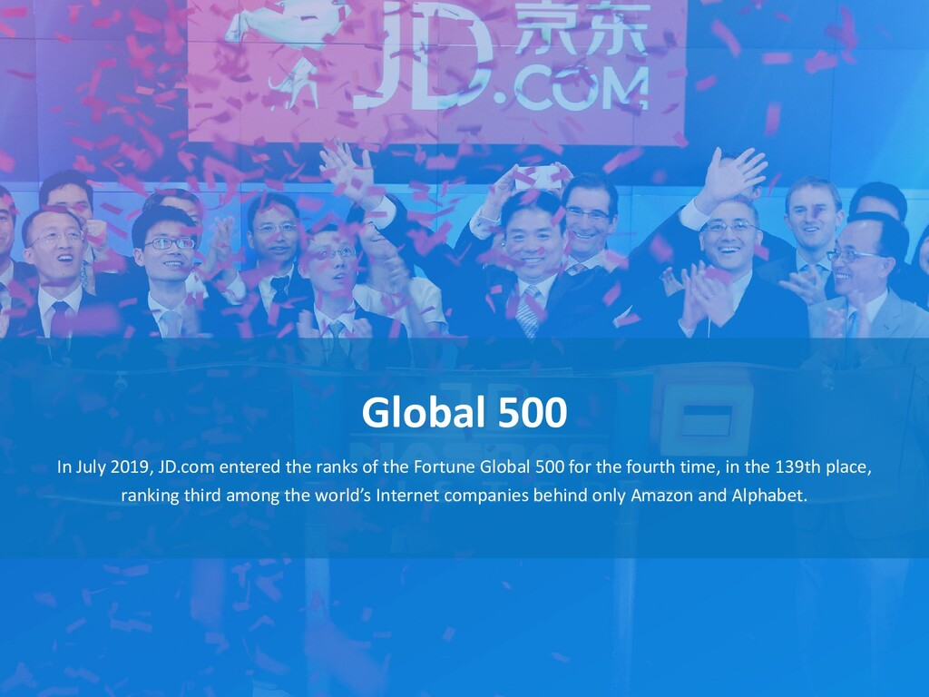 Global 500 In July 2019, JD.com entered the ran...