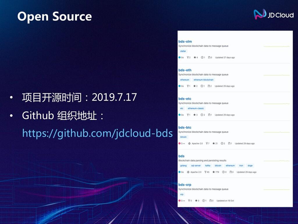 Open Source • 项目开源时间:2019.7.17 • Github 组织地址: h...