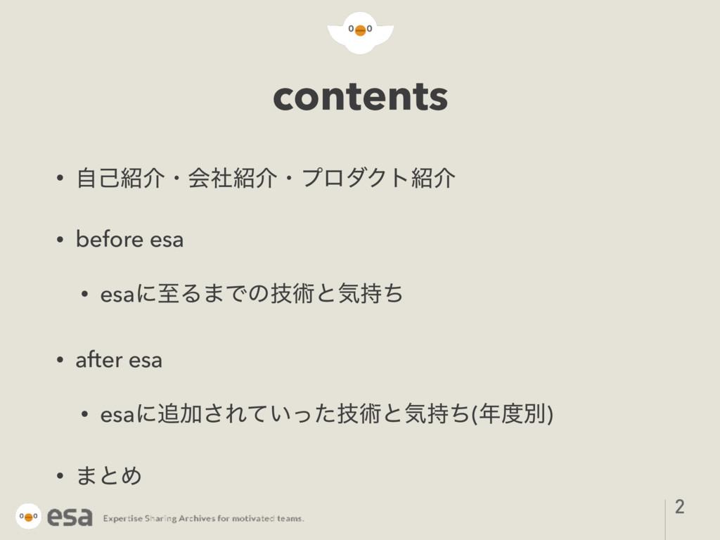contents • ࣗݾհɾձࣾհɾϓϩμΫτհ • before esa • esa...