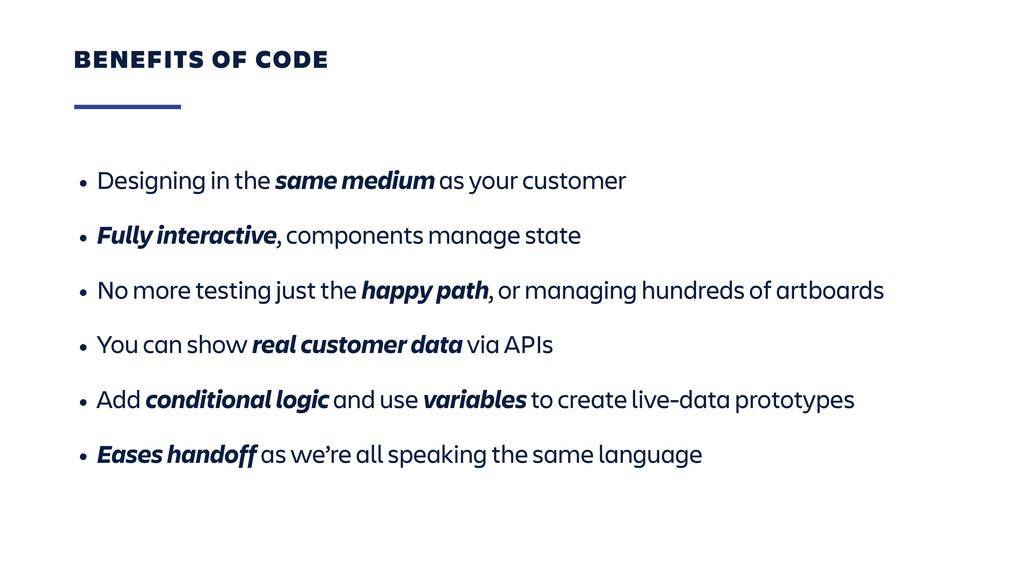 • Designing in the same medium as your customer...