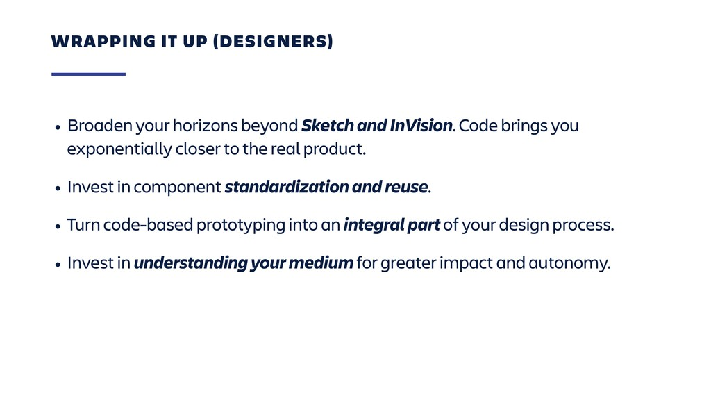 • Broaden your horizons beyond Sketch and InVis...