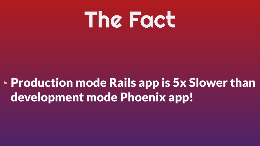 The Fact  Production mode Rails app is 5x Slowe...
