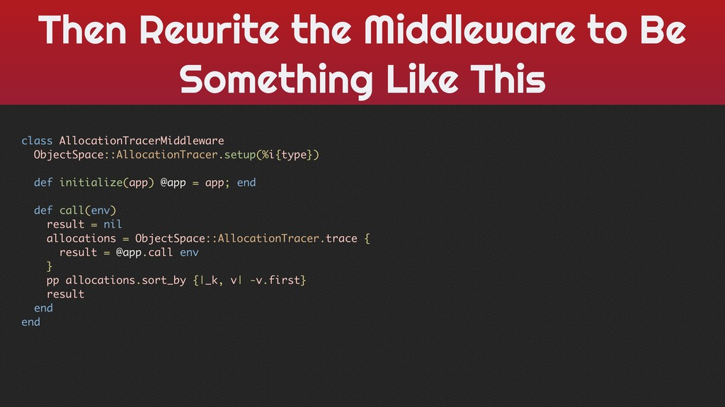 Then Rewrite the Middleware to Be Something Lik...