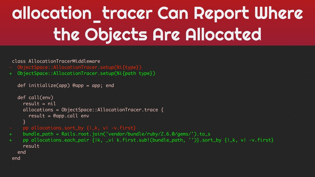 allocation_tracer Can Report Where the Objects ...