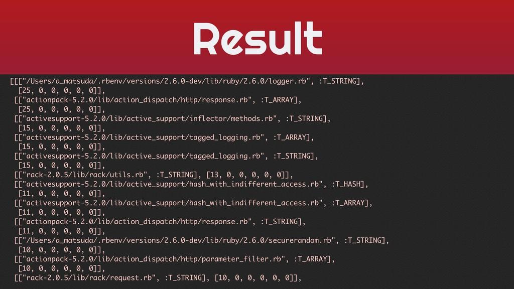 "Result [[[""/Users/a_matsuda/.rbenv/versions/2.6..."