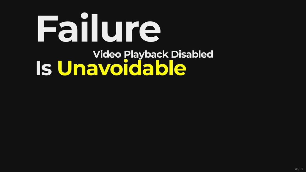 Video Playback Disabled Failure Is Unavoidable ...