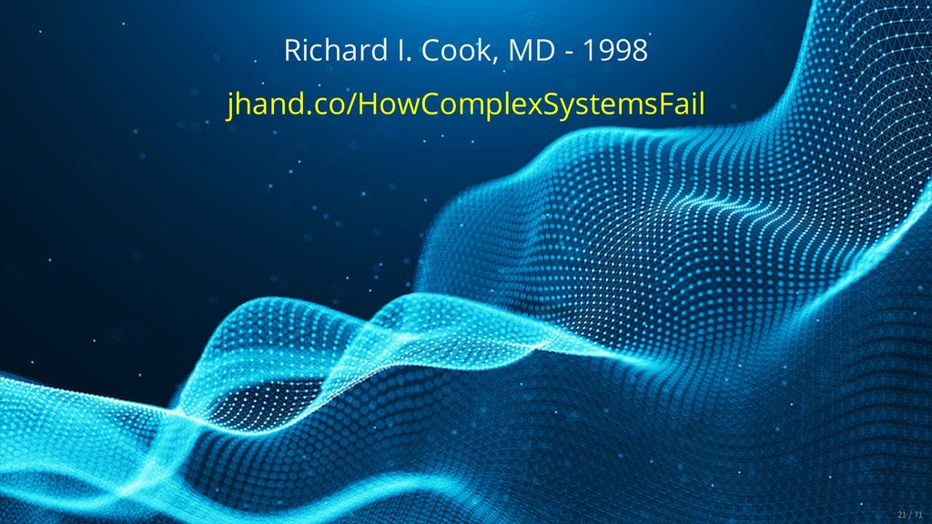 Richard I. Cook, MD - 1998 jhand.co/HowComplexS...
