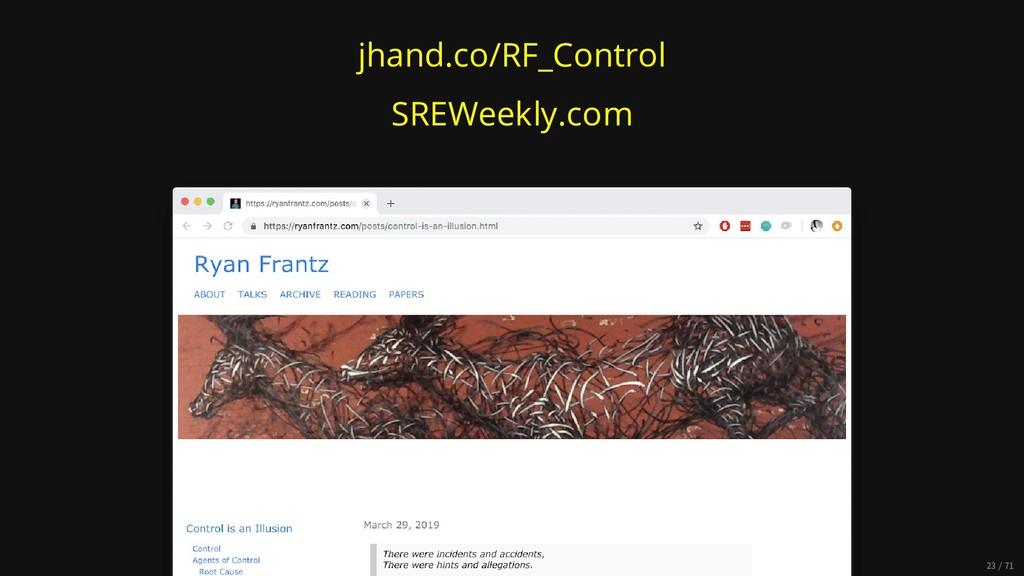 jhand.co/RF_Control SREWeekly.com 23/71