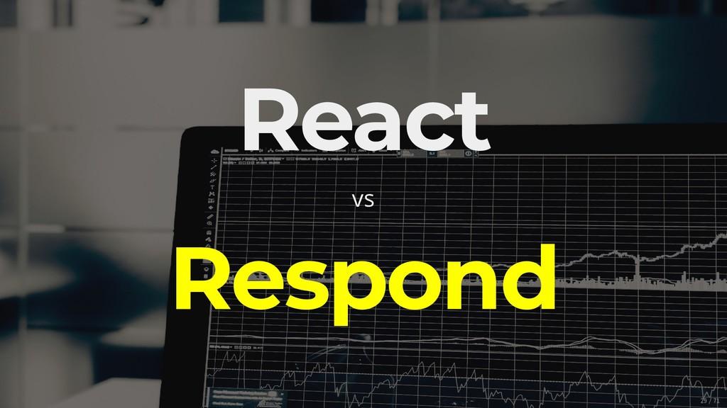 React vs Respond 29/71