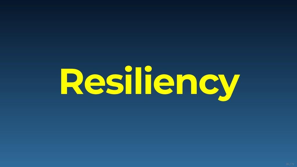 Resiliency 31/71