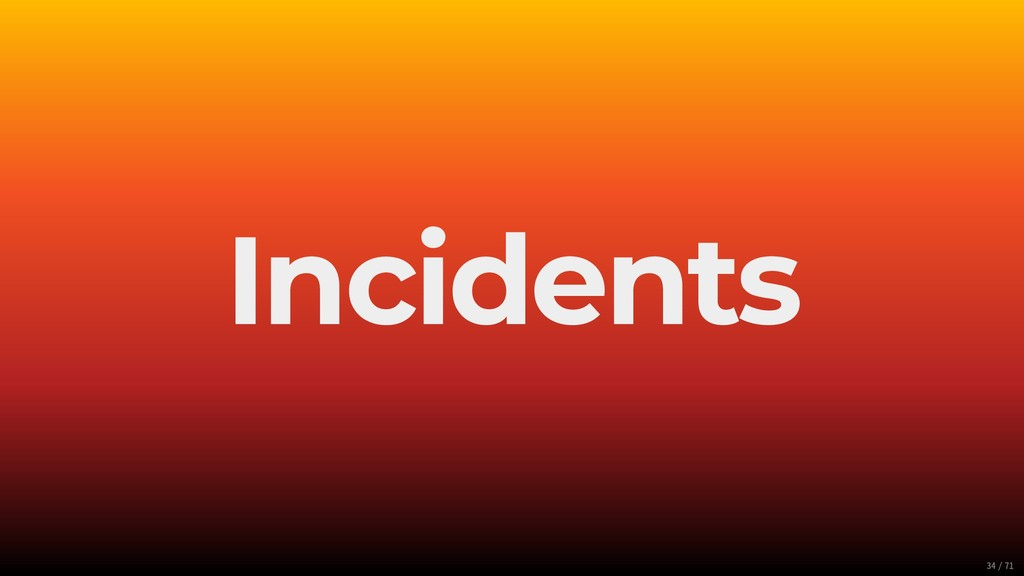 Incidents 34/71
