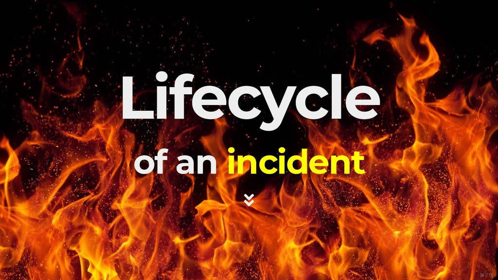 Lifecycle of an incident  36/71