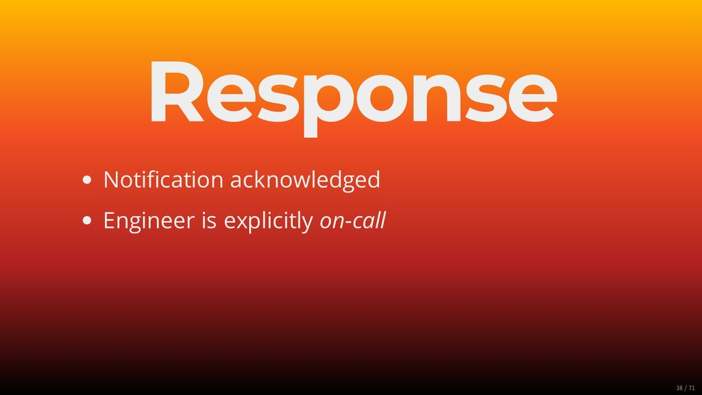 Response Notification acknowledged Engineer is e...