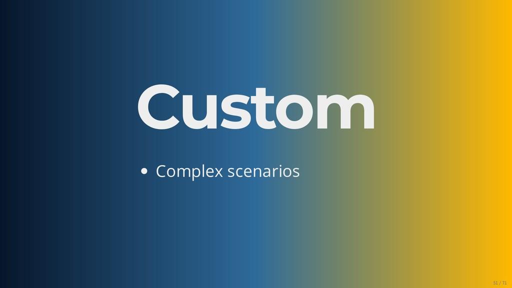 Custom Complex scenarios 51/71