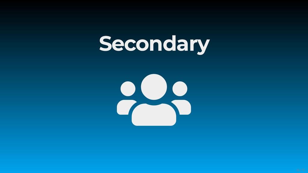 Secondary  54/71