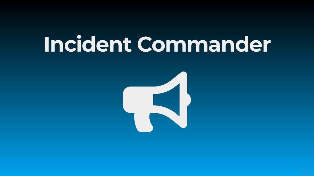 Incident Commander  55/71