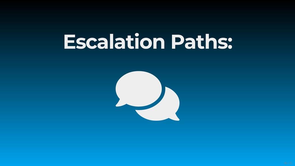 Escalation Paths:  56/71