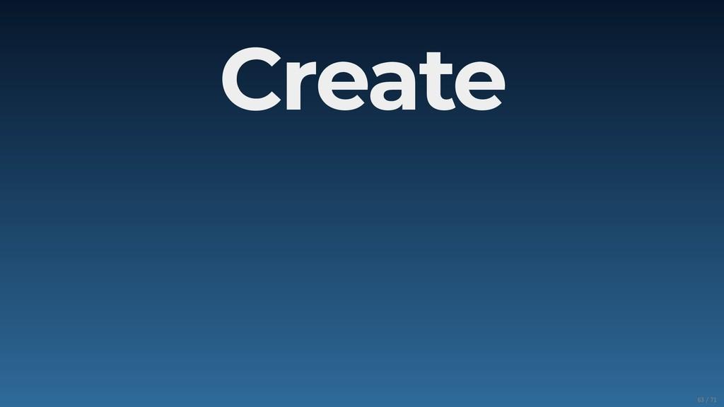 Create 63/71