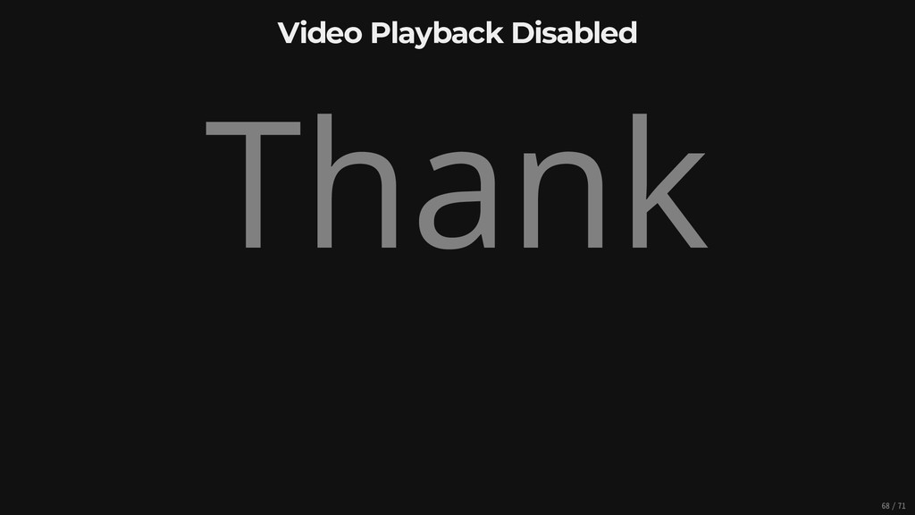 Video Playback Disabled Thank 68/71
