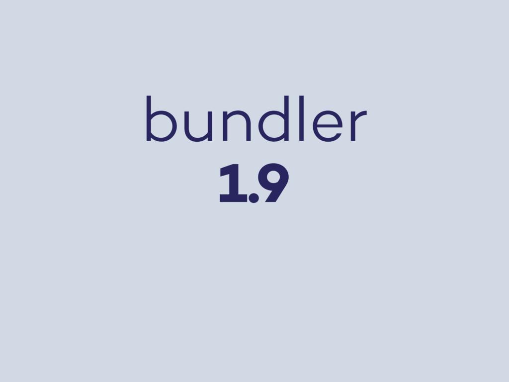 bundler 1.9