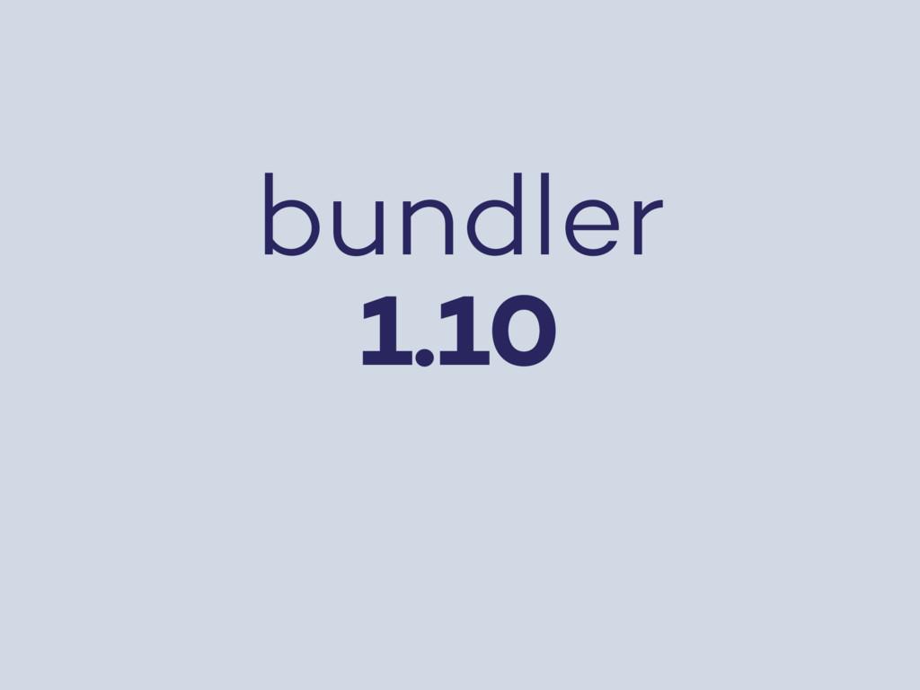 bundler 1.10