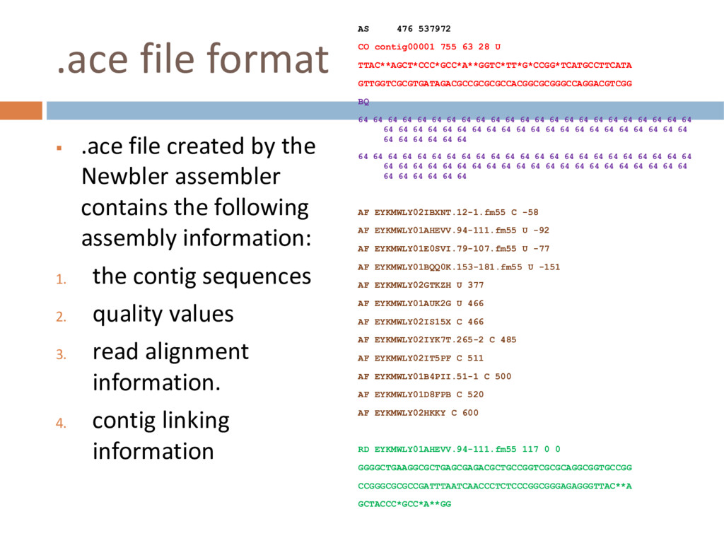 .ace file format § .ace file created by the New...