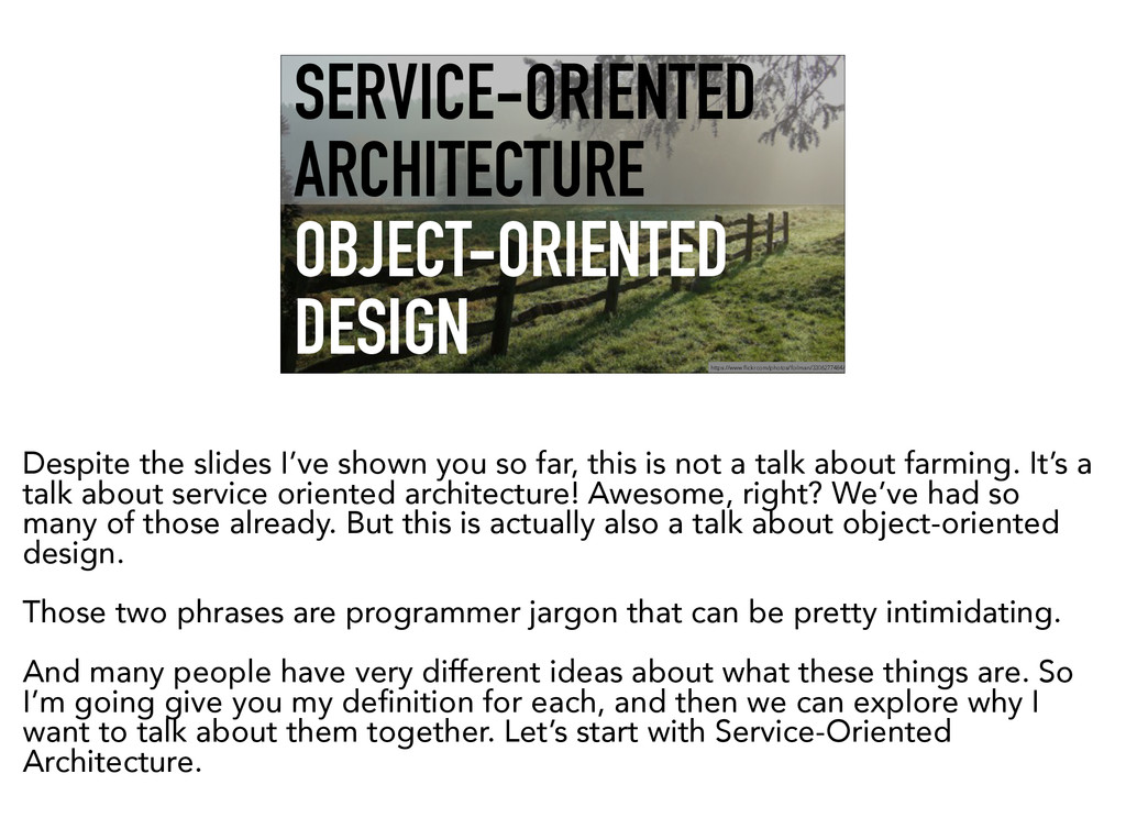 SERVICE-ORIENTED ARCHITECTURE OBJECT-ORIENTED D...