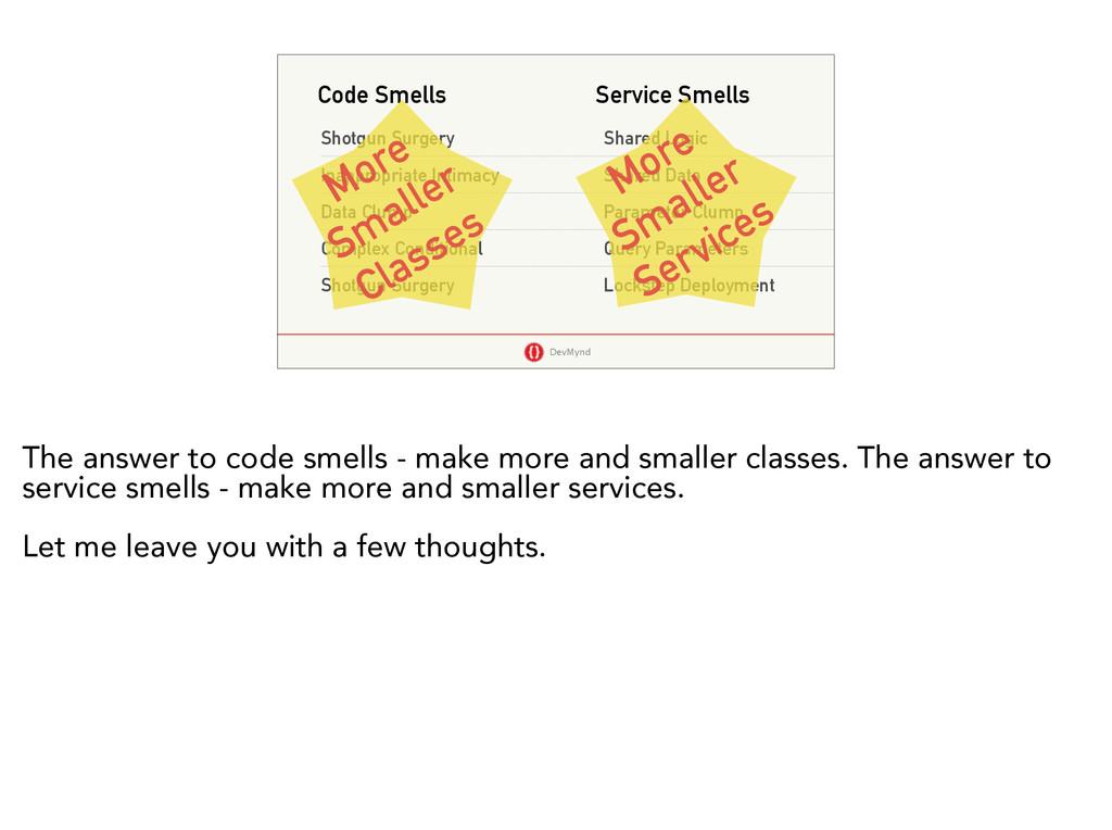 DevMynd Code Smells Service Smells Shotgun Surg...