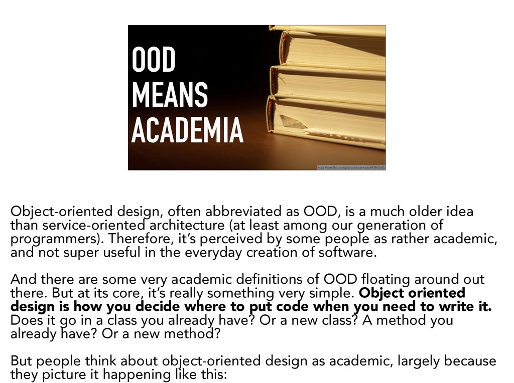 OOD MEANS ACADEMIA https://www.flickr.com/photo...