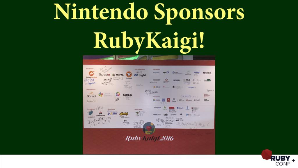 Nintendo Sponsors RubyKaigi!