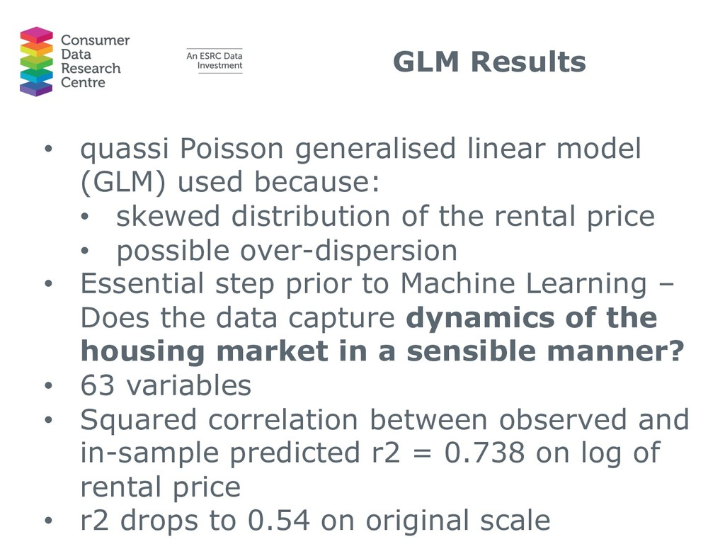 GLM Results • quassi Poisson generalised linear...