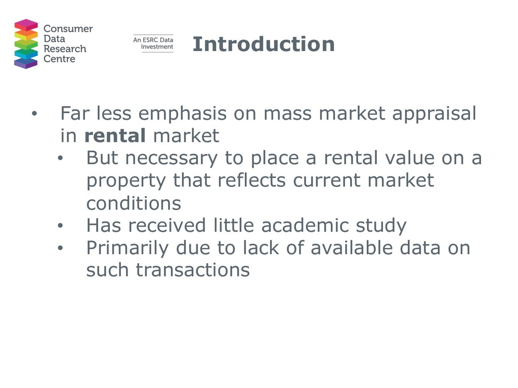 Introduction • Far less emphasis on mass market...