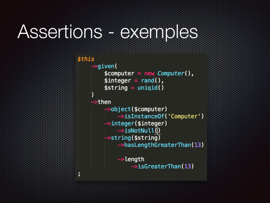 Assertions - exemples