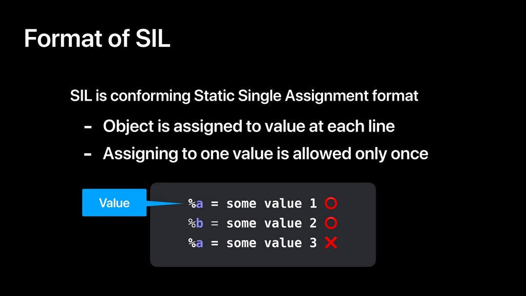 Format of SIL SIL is conforming Static Single A...