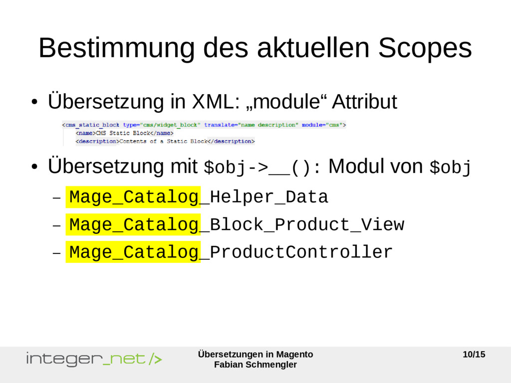 Übersetzungen in Magento Fabian Schmengler 10/1...