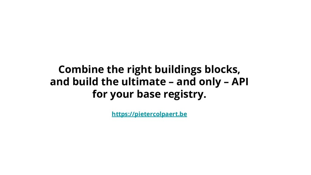 Combine the right buildings blocks, and build t...