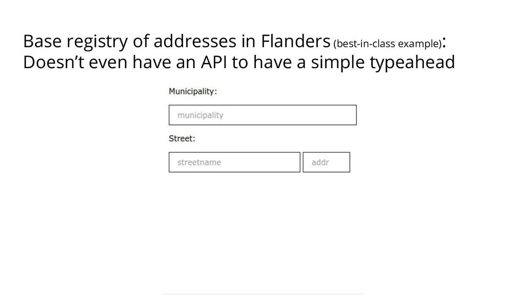 Base registry of addresses in Flanders (best-in...