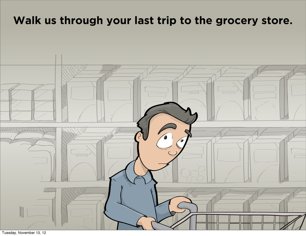 Walk us through your last trip to the grocery s...