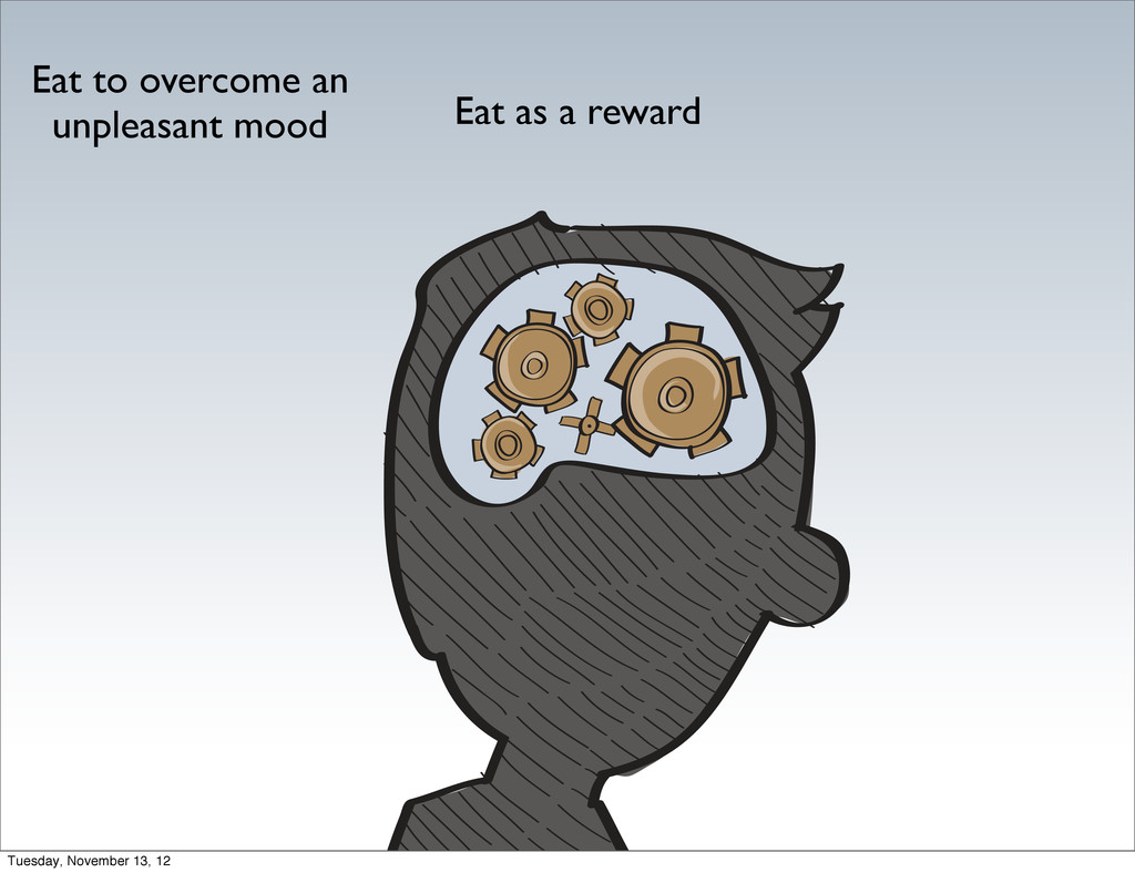 Eat to overcome an unpleasant mood Eat as a rew...