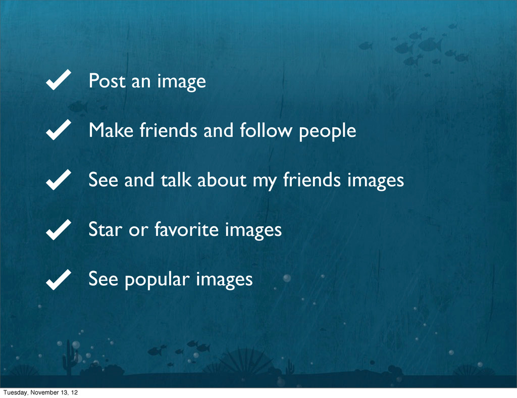 Post an image Make friends and follow people Se...